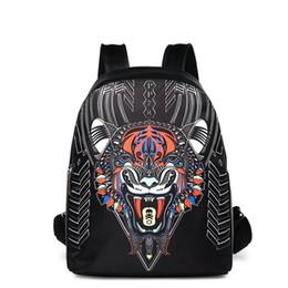 2f92bdc23671 2018 Luxury brand cool animal boy tiger head New Fashion men designer  Backpacks Wholesale Leather PU Backpack School computer Bags 180106001