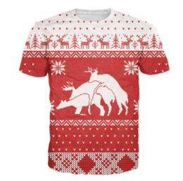 $enCountryForm.capitalKeyWord Canada - Merry Bucking Christmas T-Shirt Animal Deer 3d Print T Shirt Women Men Fashion Clothing Tops Outfits Tees Plus Size U484