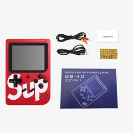 Discount handheld mini games - SUP games Console Mini Handheld Game Box Portable Classic game player 3.0 Inch Color Display 300games NES snes with reta