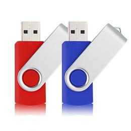 Flash Drive Mix NZ - 2 Mixed Colors Swivel 16GB USB 2.0 Flash Drive Rotating Thumb Pen Drive Fold Memory Stick for Computer Laptop Macbook Tablet (Red, Blue)