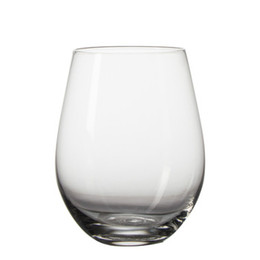 China Stocked Hot Sale Machine-Blown Clear Lead-Free Crystal Stemless Wine Glass suppliers
