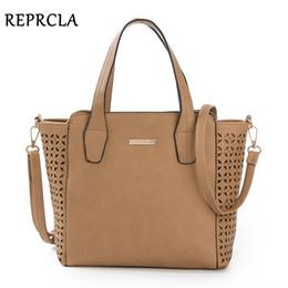Vintage Ladies Handbags NZ - REPRCLA New Vintage Women Bags Designer Handbags PU Leather Shoulder Bags Crossbody Ladies Top-handle Bag Hollow out Tote