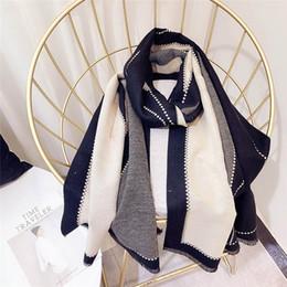 Ingrosso 2018 nuove donne di marca sciarpa moda imitazione sciarpe in cashmere femminile morbido silenziatore sciarpe scialle signora avvolge designer Bandana Pashmina Wraps