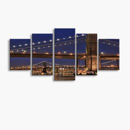 Art Canvas Prints Australia - 5 pieces high-definition print Bridge canvas oil painting poster and wall art living room picture PF5-242