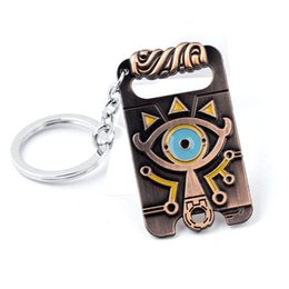 Car Ball Games UK - Legend of Zelda Keychain Sheikah Slate Pendant Handmade Keyring Breath of The Wild Game Jewelry Key Holder Llavero Zelda COSPLAY