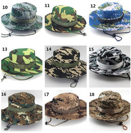tactical camouflage hats Australia - 500pcs Tactical Bucket Beanie Hats Airsoft Sniper Camouflage Nepalese Cap Military Army American Military Accessories Hiking Hats J068