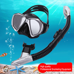 $enCountryForm.capitalKeyWord NZ - Thenice Snorkel Set Anti Fog Scuba Diving Mask Glasses Equipment Full Dry Snorkeling Swimming Training Underwater Mask Women Men