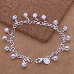 silver bracelet bells Australia - wholesale for women men's silver plated bracelet 925 fashion Silver jewelry charm bracelet small bell Bracelet
