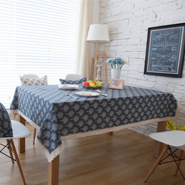 $enCountryForm.capitalKeyWord NZ - Cotton linen Table Cloth with Square Table, Dust Tablecloth on Kitchen Table (140*140cm) Approx. 55 x 55 inches -Small tree