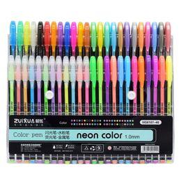 Manga Pen Set Australia - 12 16 24 36 48 Colors Gel Pens Set Refill Pastel Neon Metallic Glitter Sketch Manga for Adult Coloring Drawing School Stationery
