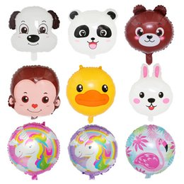 duck balloons wholesale NZ - Cartoon bear rabbit Duck monkey Foil Balloons Inflatable Helium Balloon classic toys wedding happy Birthday Christmas balloons