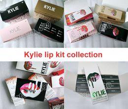 Kylie jenner cosméticos 2 em 1 lip kit mais novo 42 cores e férias de férias de outono todos os kits de coleta frete grátis