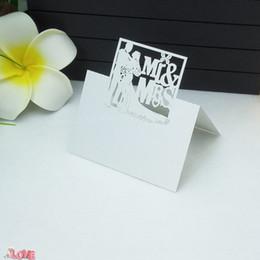 $enCountryForm.capitalKeyWord Australia - 100pcs Mr&Mrs Pattern Name Table Place Card Laser Cut Sweet Wedding Celebration Party Desk Card Seats Name Cards 5ZZ35