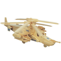 2e5bd6cb Free shipping ---Reconnaissance Aircraft Fighters Planes Helicopters Wooden  Jigsaw 3D Simulation Model DIY Stereo Jigsaw Puzzle Children Uni