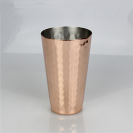 ExquisitE fruit online shopping - Moscow Mule Beer Mug Stainless Steel Gold Flexible Fruit Juice Cups Hammered Copper Creative Portable Tumblers Exquisite yf jj