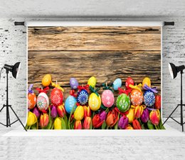 $enCountryForm.capitalKeyWord Australia - 7x5ft Easter Wood Backdrop Colorful Eggs Photo Background Red Flowers Backdrop for Children Easter Party Shoot Studio Backgrounds Prop