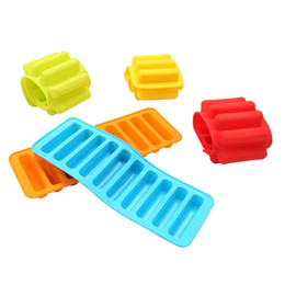 Chinese  Silicone Bakeware Mold Chocolate Molds 10 Holes Long Finger Cake Molds Thumb Cookies Moulds 4 Colours manufacturers