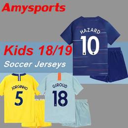 2019 kids kit MORATA HAZARD home soccer Jersey PEDRO FABREGAS HAZARD DIEGO  COSTA MORATA KANTE WILLIAN Away 3rd child youth Football Shirt abd7c1dd2