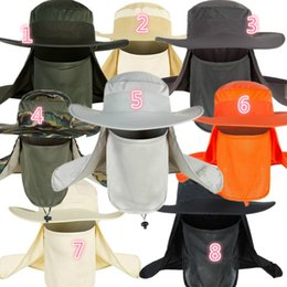 Sailor Hat Boys Canada - 3x Fishing Hats Unisex Outdoor Sports Uv protection A Variety Of Color Summer Sunshades Caps