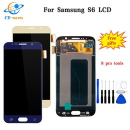 touch screen s6 Australia - 100% Amoled For Samsung Galaxy S6 LCD Display Touch Screen Digitizer for G920i G920P G920f G920V G920A G920W for Samsung S6 lcd