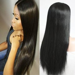 Discount natural hairstyles black women - Good 10A Brazilian Hair Silky Straight Peruvian Full Lace Wigs With Baby Hair Human Hair 180% Density Natural Hairline F