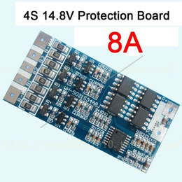 li ion mobile battery Canada - Freeshipping 4s cell 14.8V 8A w Balance Li-ion Lithium 18650 Battery Charge BMS PCB Protection Board