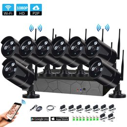 Wireless outdoor camera kits online shopping - 8CH P HD Wireless NVR Kit P2P P Indoor Outdoor IR Night Vision Security MP IP Camera WIFI CCTV System