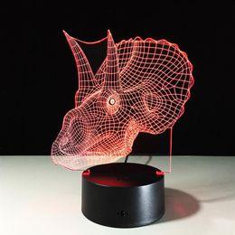 dragon bedding 2019 - Dragon 3D LED Night Lights Colorful Gradient Acrylic Novelty Lighting Home Decor Kids Bedroom Table Lamp Kids Birthday G