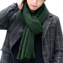 992801a2dea Korean Knitted Scarf NZ - Unisex Korean Warm Couple Knitted Scarf Oversized  Cashmere Winter Scarves Shawl