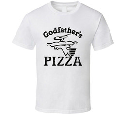 Discount restaurant foods - Godfathers Pizza Fast Food Restaurant Distressed Look T Shirt