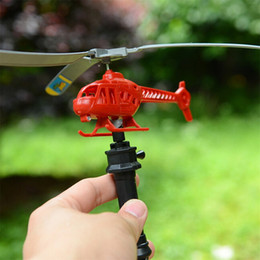 helicopter pull toy NZ - Children Helicopter Model Handle Pull The Plane Aviation Funny Cute Aircraft Toys Outdoor Toys Children gift