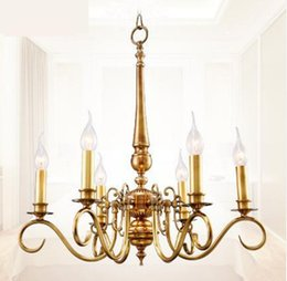 Lighting Luminaries online shopping - Regron Pastoral Chandeliers Lighting LED Gold Chandelier Art Deco Europe Style hanging light Luminaries Banquet Living Room