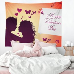 $enCountryForm.capitalKeyWord NZ - Heart of Love Decorative Bedroom Makes You Feel Warm Sublimation Custom Printed Personalized 130x150cm 400g Wall Tapestry