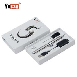$enCountryForm.capitalKeyWord Australia - Yocan Evolve-D Starter Kit dry herb pen Vaporizer with Pancake Dual Coils 650mAh Battery ego thread atomizer genuine