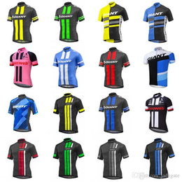 Discount giant bicycle team jersey - GIANT team Cycling Short Sleeves jersey Summer Mtb Bike Clothing Bicycle Short Sleeves shirts Maillot Ciclismo Sportswea