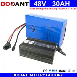 Motor Bicycles Australia - BOOANT 48V 30AH E-Bike Li-ion Battery Pack for Bafang 1800W Motor Electric Bicycle Battery 48V Made of Original Samsung 18650