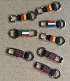 Wholesale Fashion Car Styling Keychain Italy flag Keyring Keyhold Men keychain England Germany France Flag Key Chain National flag