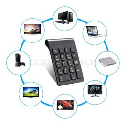Key Numeric Australia - New Portable 2.4G Wireless Digital Keyboard USB Number Pad 18 Keys Numeric Keypad For Laptop PC Notebook Desktop