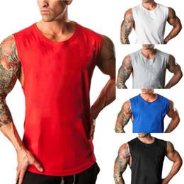 $enCountryForm.capitalKeyWord Australia - Men Tank Tops Stringer Bodybuilding Fitness Men's GYMs Tank Tees Undershirts Male Shirts Sportings Runnings Cotton Vest 0720