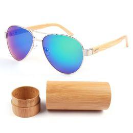 Discount bamboo wood sunglasses men wholesale - 2017 New Hand Made Men Bamboo Sunglasses Outside Sunglass Women men Brand Designer Wood Glasses High Quality Unisex Ocul