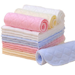 Nappy Cotton Liner Inserts NZ - 10pcs lot 3 Layers Ecological Cotton Baby Cloth Nappy Inserts Reusable Washable Diapers Nappy Changing KF005
