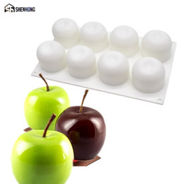 $enCountryForm.capitalKeyWord NZ - SHENHONG 8 Holes 3D Apple Cake Moulds Silicone Mold Mousse Art Pan For Ice Creams Chocolates Pudding Pastry Dessert Baking Tools