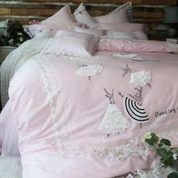 $enCountryForm.capitalKeyWord Australia - Lovely Princess Style Ballet girl Egyptian cotton Bedding set Duvet Cover Bed Linen Bed sheet Pillowcases King Queen Size 4 7pcs