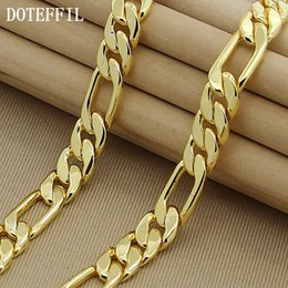 plastic chains halloween Australia - High Fashion 8mm 22Inches Gold Chain Link Necklace Chunky Males Jewelry 24k Vacuum Plating High Quality Free Shipping Accessories