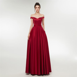 $enCountryForm.capitalKeyWord UK - Sexy Off Shoulder Long Red Prom Dresses Formal Party Dress For Graduation Customer Made Size E003