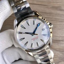 191b5133230 Relógios De luxo Pulseira De Aço Inoxidável Aqua Terra 150 m Mestre 41.5mm  De Aço