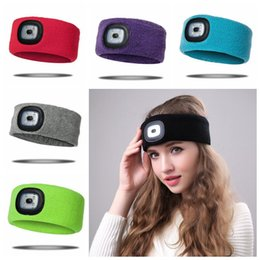 Zoom flash online shopping - Rechargeable LED Flashing Headband Wrap Knitted Light For Outdoor Hunting Headlight Fishing Headband Party Favor CCA10321