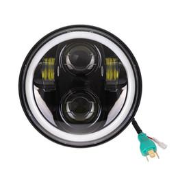 5.75 дюймов светодиодные фары halo кольцо белый DRL Angel eye для Harley Sportster Touring-Super Glide Dyna 5 3/4