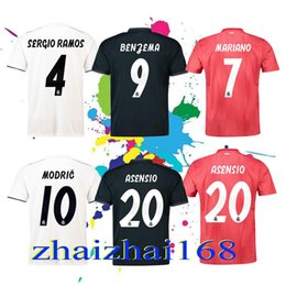 Real Madrid home white Soccer Jersey 18 19 Real Madrid away Soccer shirt  2019 KROOS ISCO ASENSIO BALE third 3rd red Football uniform shirt soccer  real on ... 03b498d0f