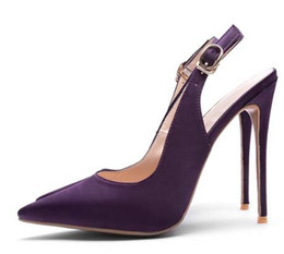 c9459fe0905114 Closed Pumps NZ - 2018 Elegant Women Slingback Shoes Evening Party Satin  Ankle Buckle Strap Closed